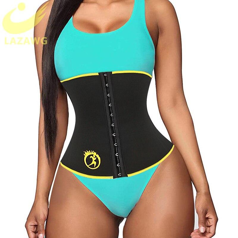 LAZAWG adelgazante modeladores de cuerpo neoprense Sauna entrenador de cintura ajustable recortador de cintura cinturón corsé de pérdida de peso deporte ejercicios para sudar