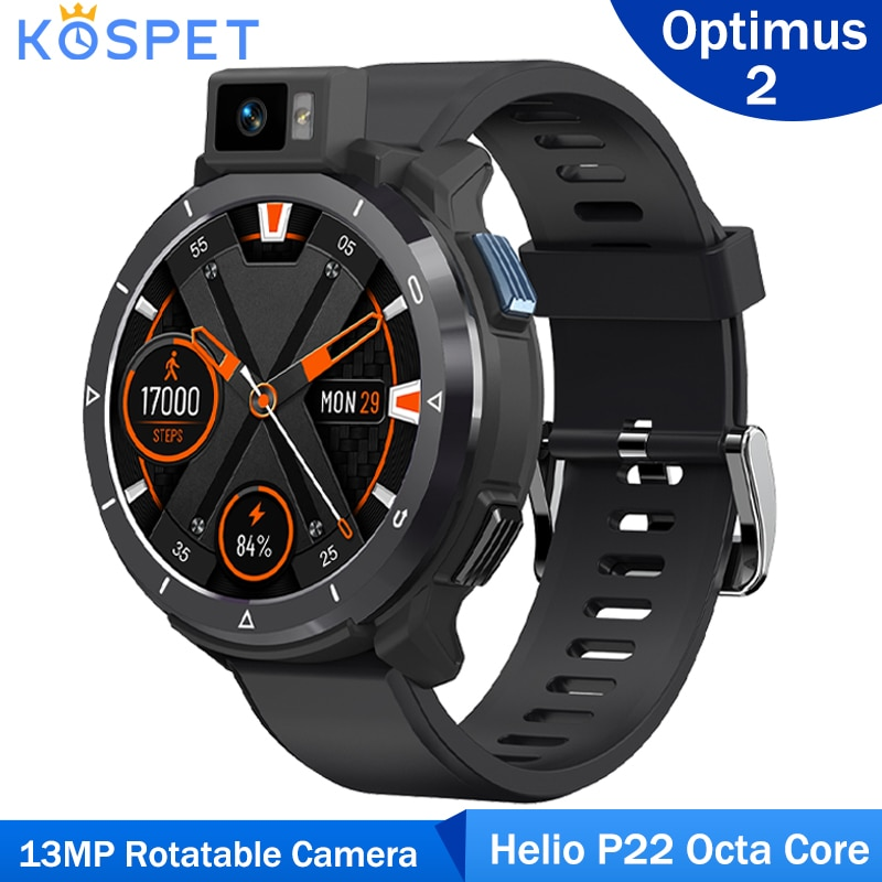 Review Kospet Optimus 2 4G Android 10.7 Smart Watch Phone Helio P22 Octa Core Dual Chip 4GB 64GB 13MP Rotatable Camera Men Smartwatch