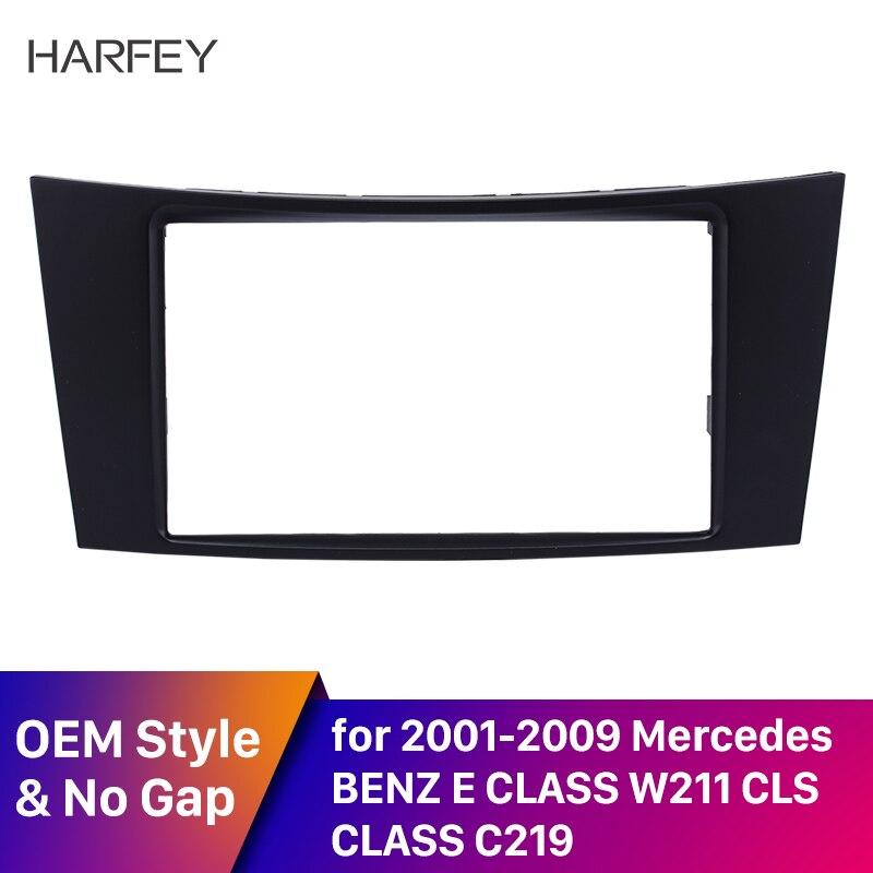 Harfey 2 Din установка автомобиля Радио панель фасции стерео рамка для Mercedes BENZ E класс W211 CD отделка DVD плеер крышка комплект монтажный комплект