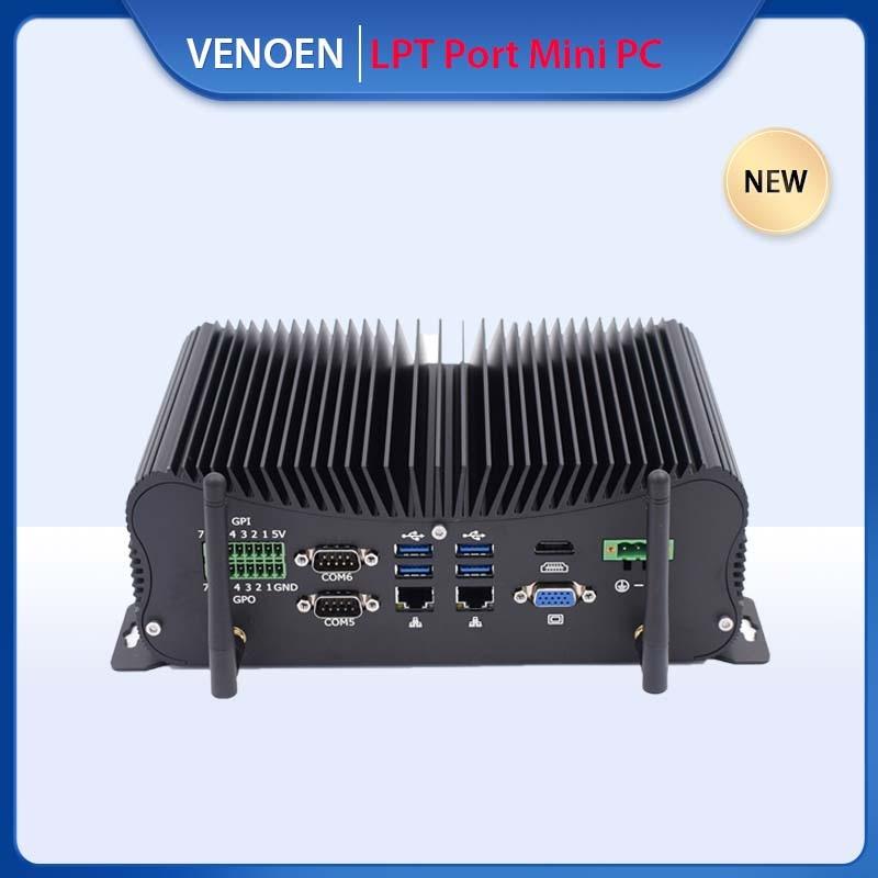 GPIO 포트 공장 미니 PC, 인텔 코어 i7 7600U 4500U i5 7267U Rs232 485 COM 시리즈 포트 산업용 컴퓨터 리눅스 Wifi AC BT4.2