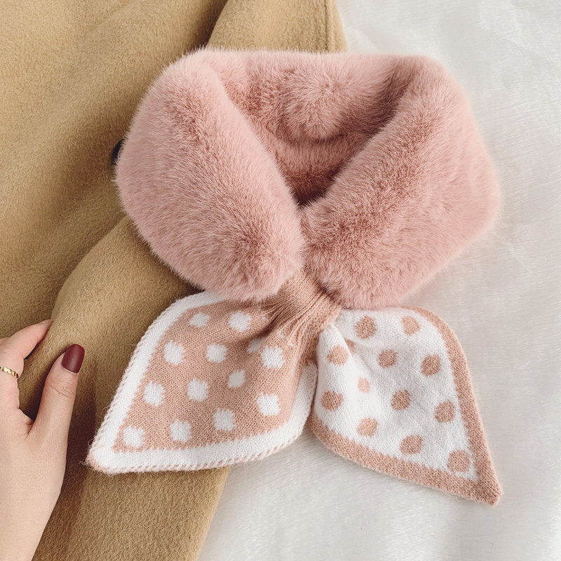 K230 Scarf Female Autumn And Winter Double-sided Dcarf Thickened Warmth Imitation Fur Wild Fashion F