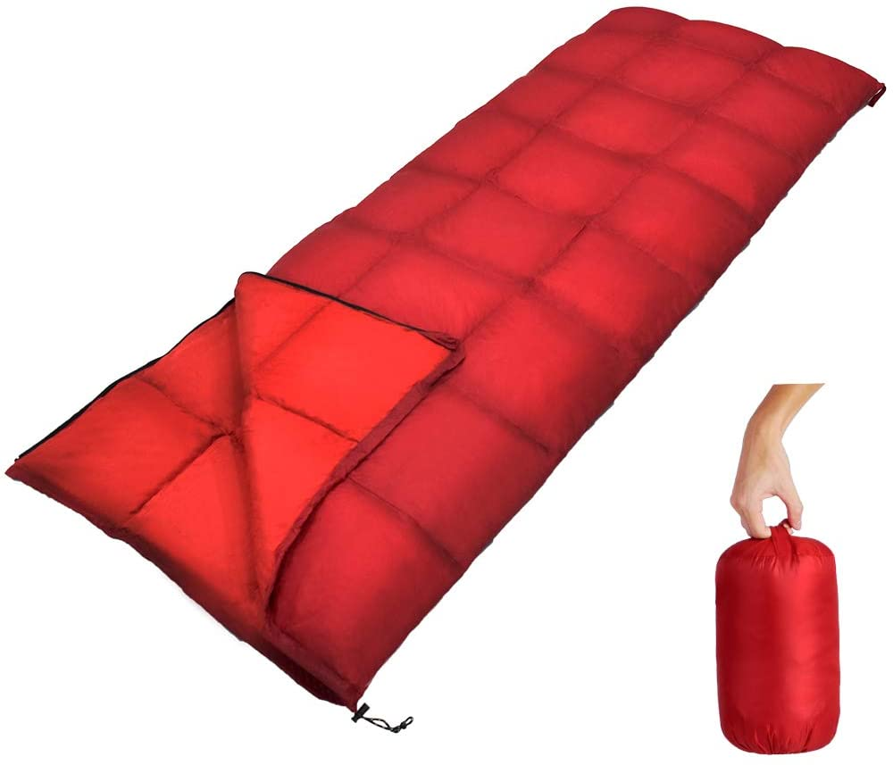 down sleeping bag autumn and winter outdoor adult envelope style thickening thermal duck down sleeping bag 400 1500g filling GeerTop Ultralight Camping Sleeping Bag Duck Down Waterproof Envelope Sleeping Bags with Compression Bag Winter Tourism Adults