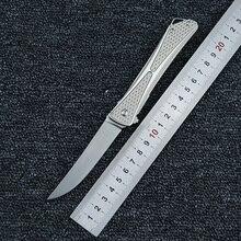 LEMIFSHE OEM  7530 folding knife bearing AUS-8 blade 6061 aluminum alloy handle outdoor camping hunting portable EDC tool