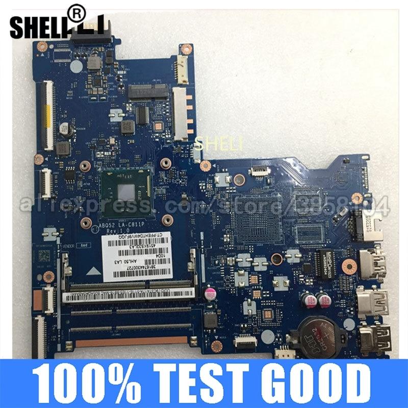 SHELI ل HP 15-AC اللوحة المحمول 815249-001 815249-501 ABQ52 LA-C811P N3700