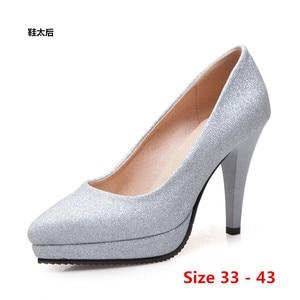 High Heel Shoes Woman Pumps Wedding Party Shoes Platform Dress Women Shoes High Heels Ladies Shoes Small Big Size 33 - 43