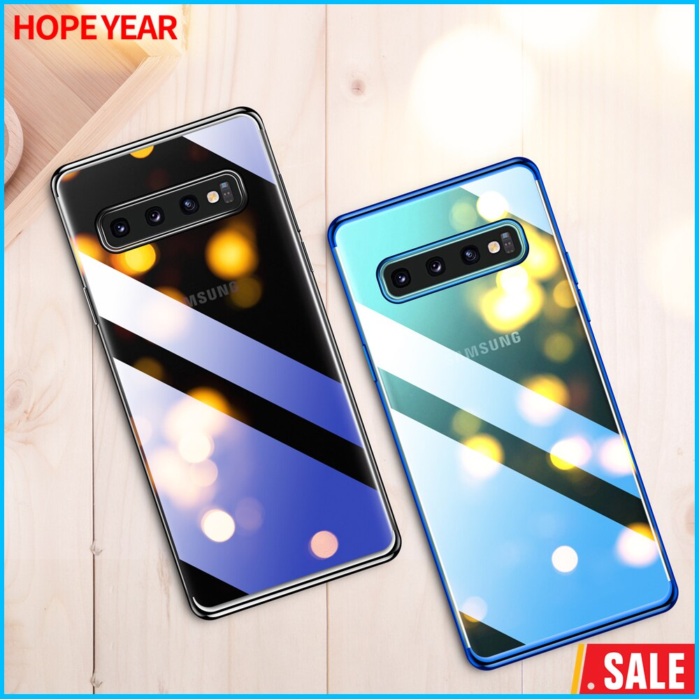 Hope Year Luxury Pating Transparent  Phone Accessories For Samsung s10 Plus Se S8 S9 Case On Galaxy