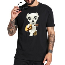 Animal Crossing T Hemd Video Spiel K.K. Slider T-shirt EU Größe 100% Baumwolle Atmungsaktive Soft Kurzarm Camisetas