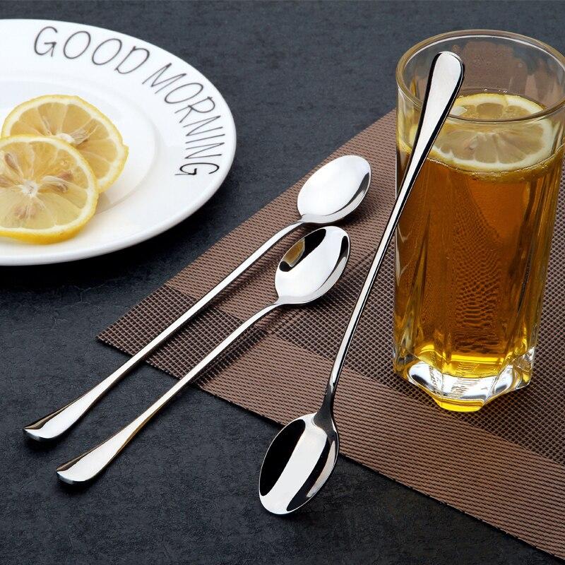 Набор посуды YDEAPI из нержавеющей стали, ложка, десерт, ложки для кофе, мороженого, кухонные аксессуары, инструменты для бара, новая длинная ру...