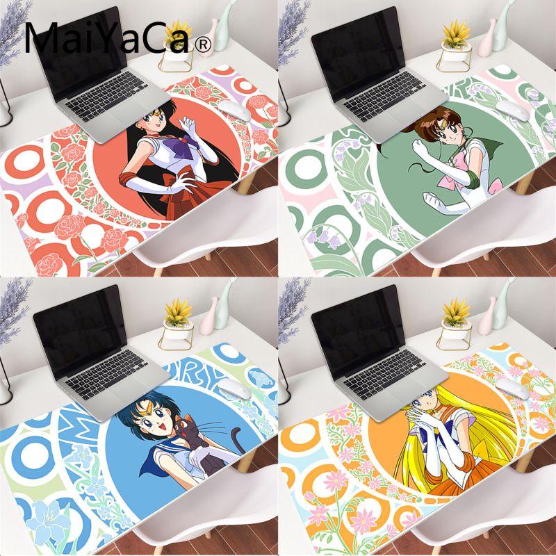 MaiYaCa Sailor Moon anime gamer juego alfombrillas, esterilla para ratón de goma...