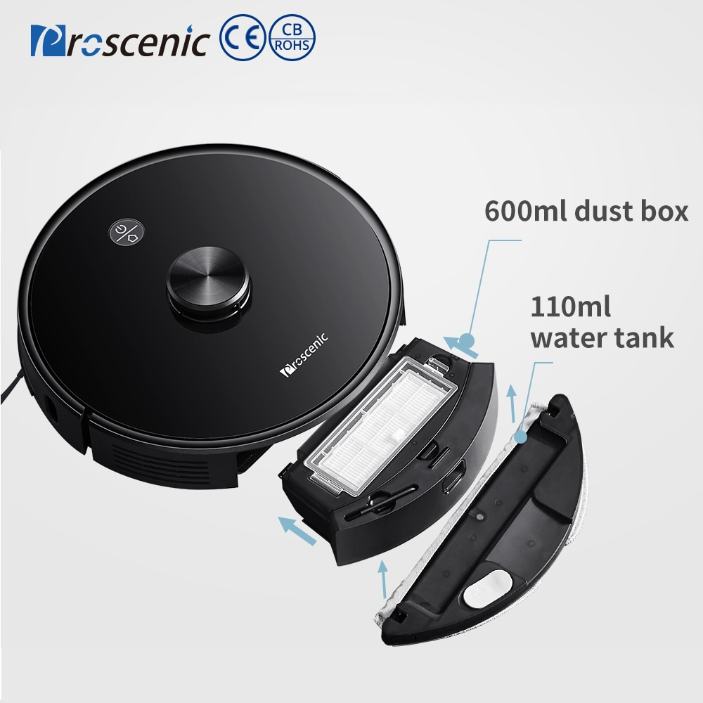 Proscenic M7 Pro Robot Vacuum Cleaner 2700pa Laser Navigation Wet Cleaning Washing Vacuum Cleaner Carpet Cleaner for Home