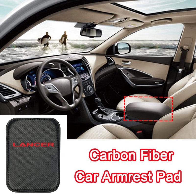 Car Armrest Arm Rest Pad Car Center Console Storage Box Cover Pad For Mitsubishi Lancer GT