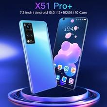 2021 Latest Smartphone Global Version 7.2 Inch HD Screen Smart phone Android 12GB RAM 512GB ROM Unlo