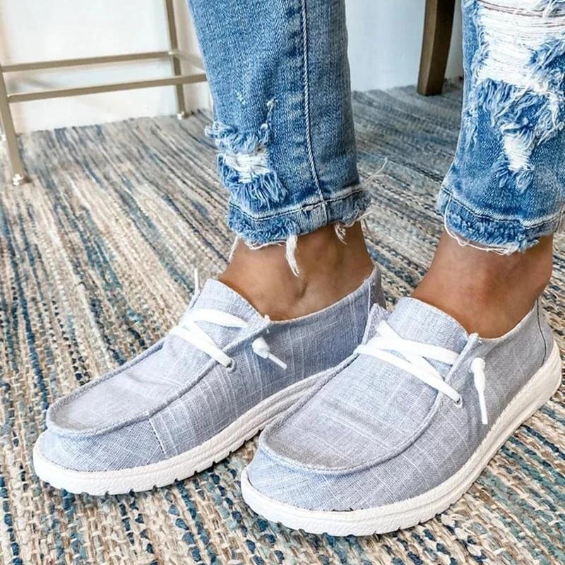 2021 Women Flats Autumn Breathable Casual Shoes Woman Lace Up Students Girl Flats Fashion Women Shoes Plus Size Flats
