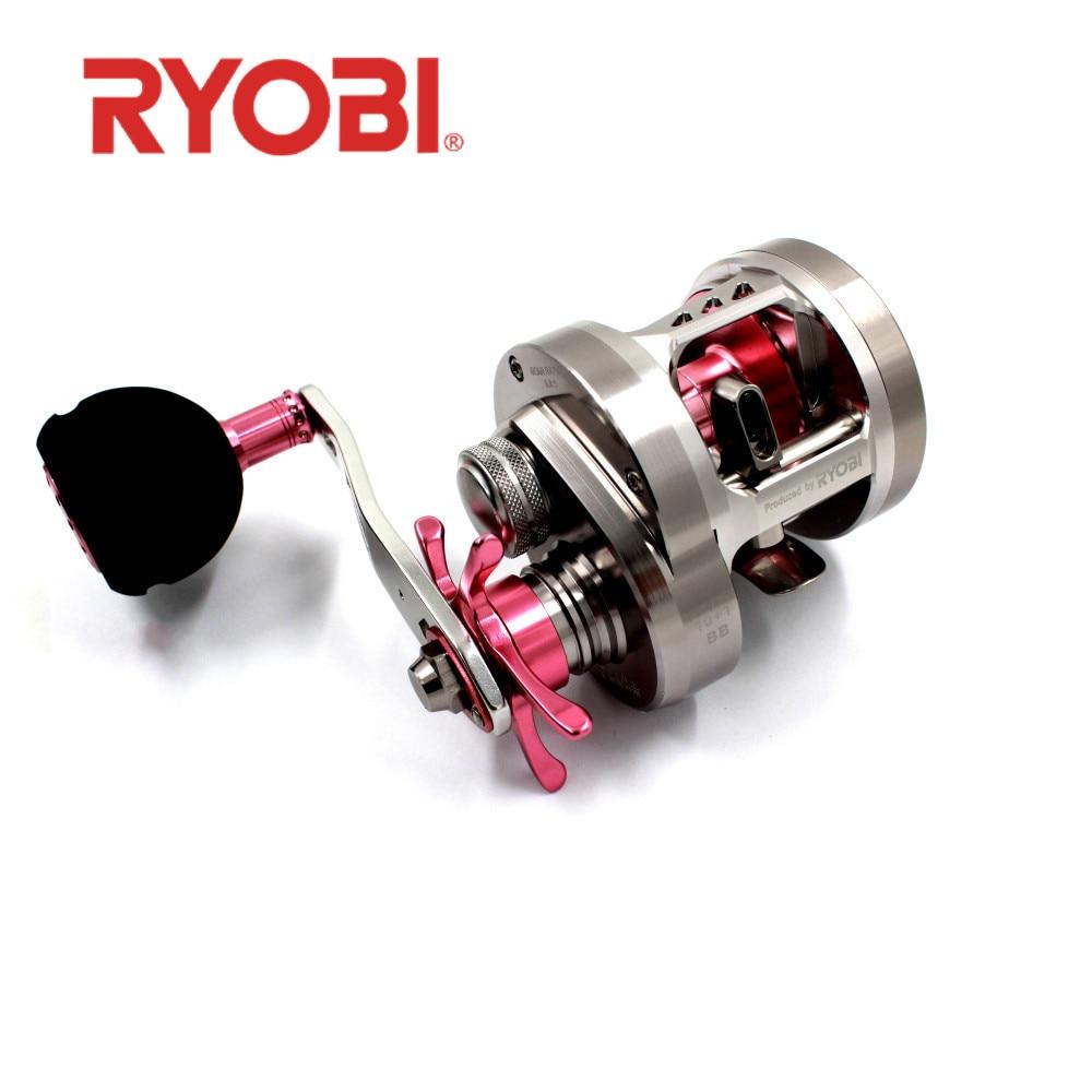 Ryobi Bering luz Jigging de agua salada carrete de pesca de arrastre máximo 12Kg 10 + 1BB antioxidante de Metal completo lento Jigging gran bobina de juego