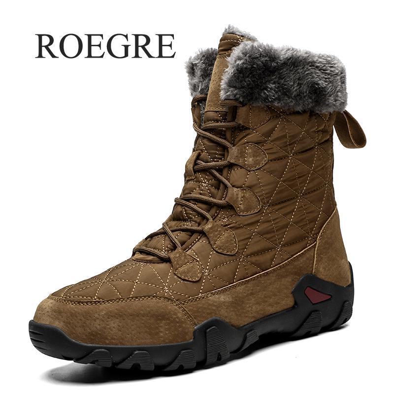 أحذية شتوية مع فرو للثلج للرجال أحذية رياضية للرجال أحذية رجالية غير رسمية للبالغين مقاومة للماء-30 درجة مئوية أحذية دافئة 46 47