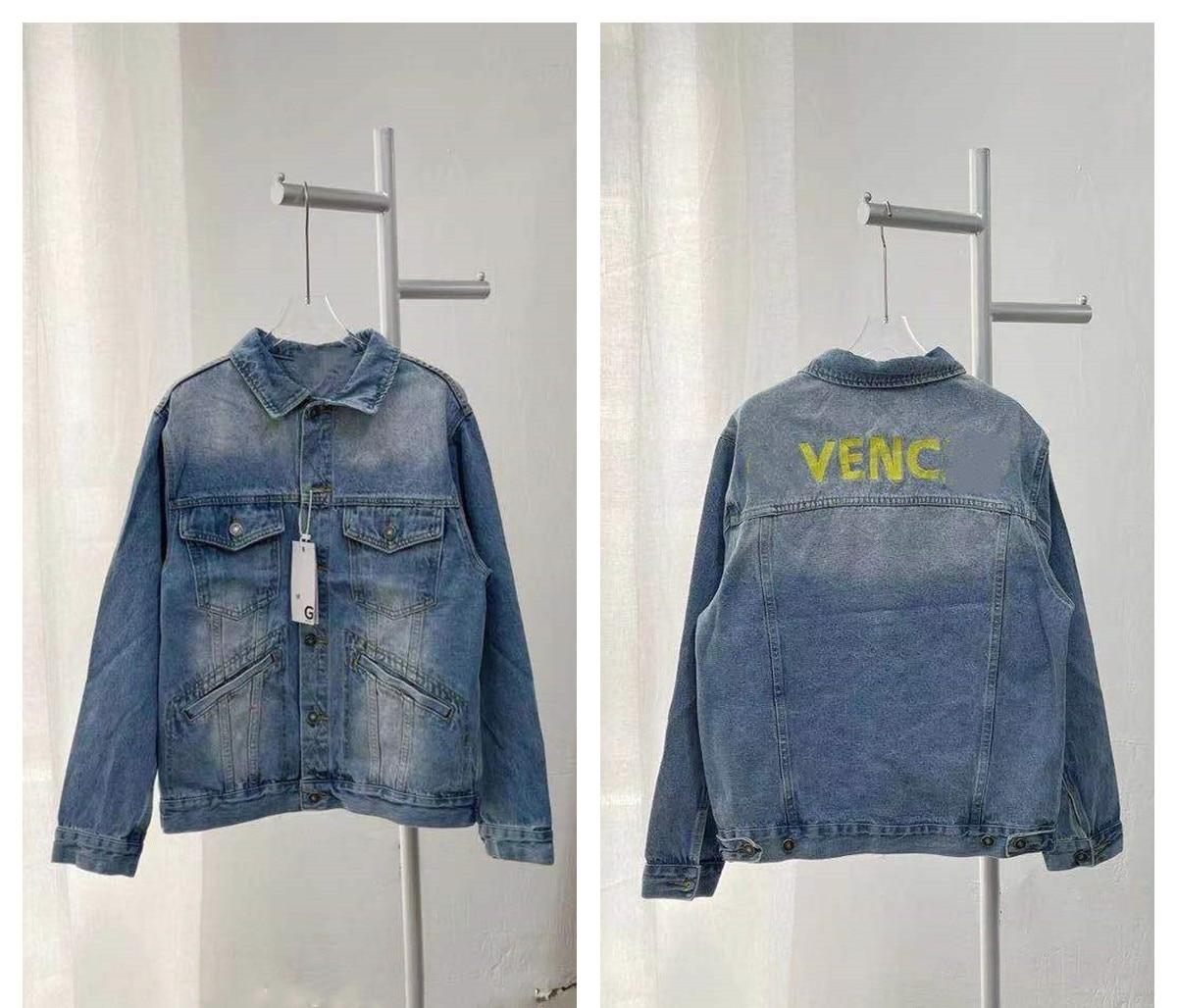 2021 Paris Spring and summer Fashion Hip Hop Denim Jacket Male Cowboy Ripped Hole European Size S~XL 154