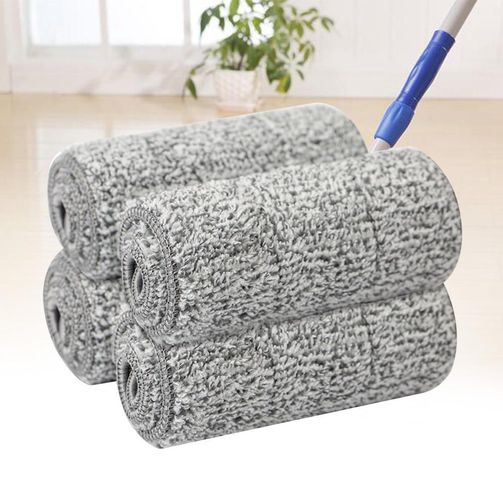 10 Pcs Einfach Installieren Waschbar Boden Wasser Absorption Weiche Quick Dry Mop Pad Reusable Starke Zubehör Kehr Mikrofaser