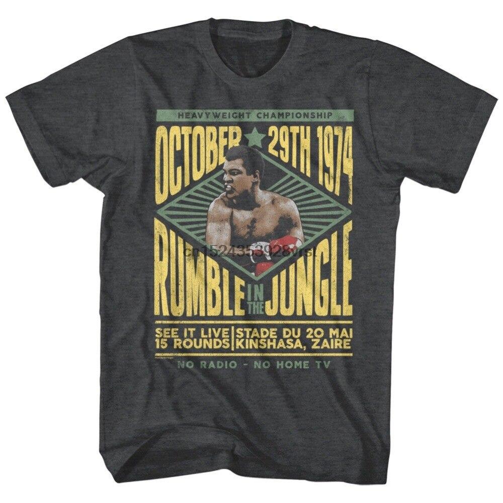 Muhammad Ali Rumble w dżungli kinszasa Zaire 1974 męskie bokserskie legendy gorąca sprzedaż moda wysokiej jakości osobowości designerskie koszule