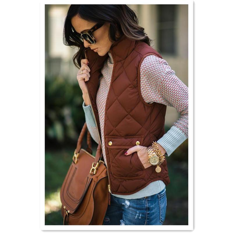 Hirigin Women arrival Slim Coats New Brand  For Sleeveless Jacket Winter Vest Female Slim Vest Womens Windproof Warm Waistcoat