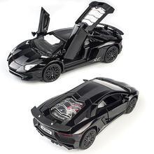 Modelos de autos de aleación LP750 LP750 132, vehículos en miniatura con luz de sonido y tirar hacia atrás, juguetes modelos de automóviles en miniatura