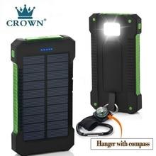 Solar Power Bank Waterproof 30000mAh Solar Charger USB Ports External Charger Powerbank for Xiaomi 5