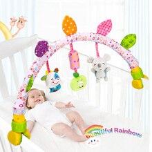 Bébé jouets poussette voiture pince mignon hochets suspendus bébé Mobile anneau lit cloche poussette jouets doux lit landau bébé musique jouet 0-12 mois