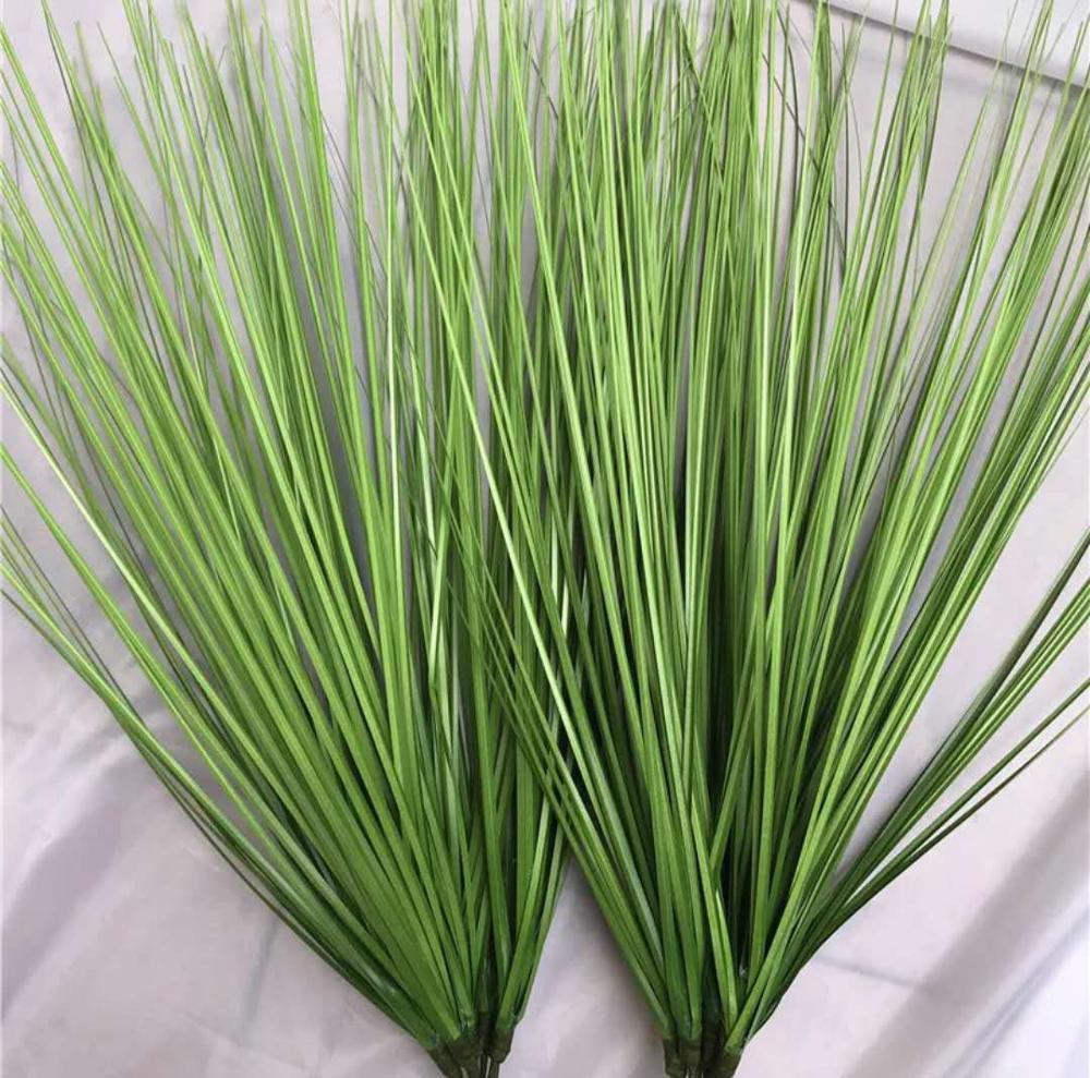 Купить с кэшбэком 65CM Large Artificial Tropical Plants Green Onion Grass Bundle Plastic Flower Arrangement Garden Wedding Living Home Decor