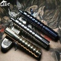 A203 New Mini Flashlight Titanium Damascus / Titanium Alloy / Brass / Copper Mini Lighting