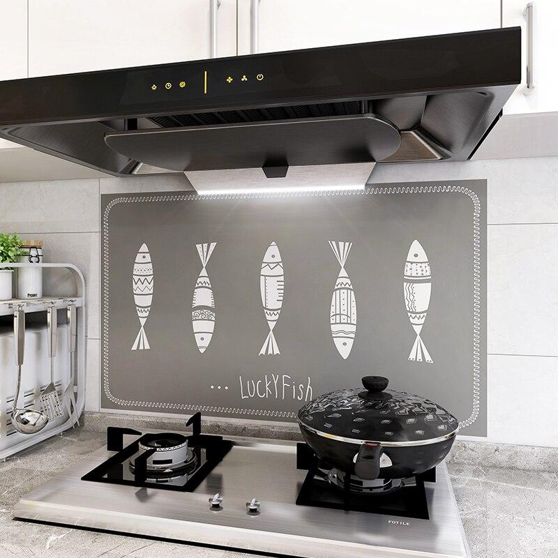 حماية المطبخ ذاتية اللصق للماء و النفط واقية تزيين المطبخ احباط ديكور Meubles دي المطبخ أدوات المطبخ BD50KT
