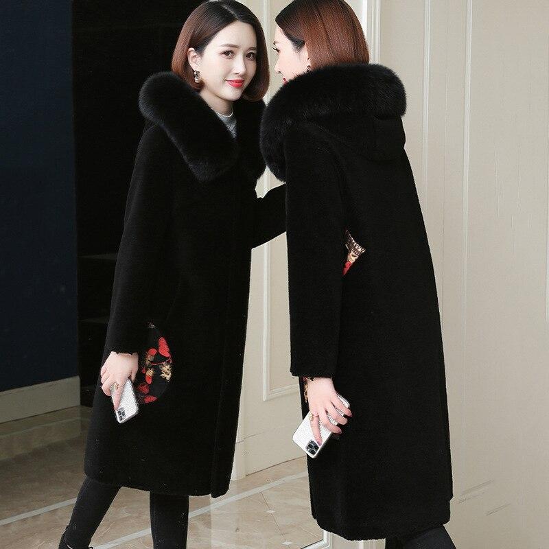 European and American plus Size Women's Clothes Chenille Coat Women's Mid-Length 2020 New Lamb Fur Fur Coat