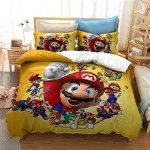 2020 Super Mario Bros.Odyssey Children Bedding Set Bed Linens 3d Cartoon Duvet Cover Sets Pillow Case Twin Full Queen King Size