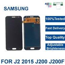 100% testowany wyświetlacz J200 do Samsung Galaxy J2 2015 J200F J200M J200H wyświetlacz LCD ekran dotykowy Digitizer regulacja jasności