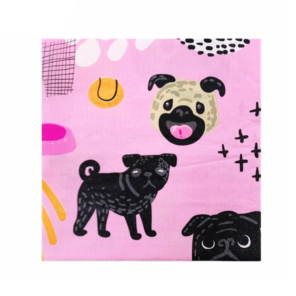 10 Uds. Perro pekinés encantador comida-rejilla impresa servilleta papel servilletas decoupage decorado virgen madera tejido 33*33cm