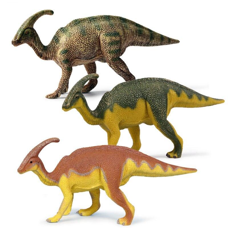 Modelo Parasaurolophus, Colección hecha a mano, dinosaurio de juguete de plástico, simulación educativa para niños, regalo jurásico, figura de Animal