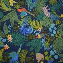 Tissu en coton et lin fond bleu foncé   Robe de chemise bazin riche getzner telas por metro tissus tela stoffen bricolage