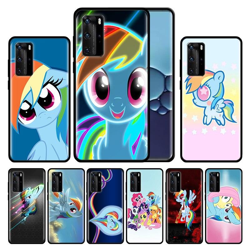 Funda de silicona para Huawei P40 Pro Plus P30 Pro P20 Pro P40 P30 P20 Lite P Smart Z Plus funda de teléfono TPU azul rosa de mi pequeño Pony R