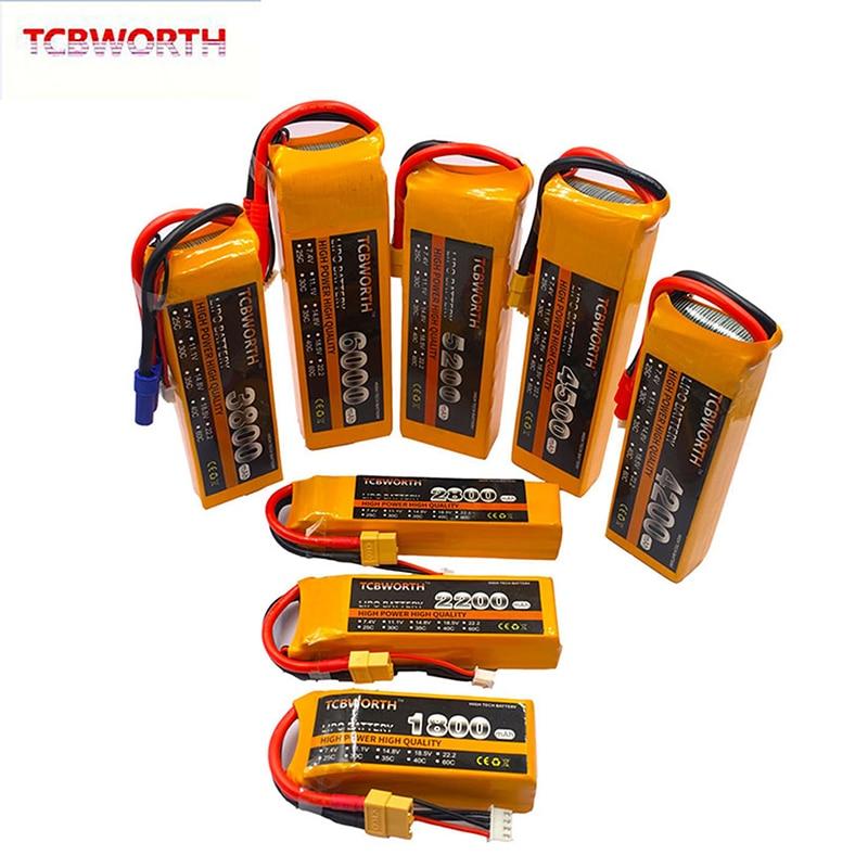 3S RC LiPo Battery 11.1V 1500 1800 2200 3300 3500 4200 5200 6000 10000 16000 22000mAh RC Drone Airplane Aircraft 3S RC Batteries