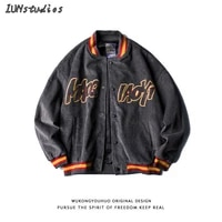 2021 spring and autumn new street retro corduroy baseball jacket mens and womens fashion brand loose couple embroidered jacket
