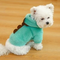 hoodies winter pet dog cat clothes plush comfort soft warm jacket coat dogs costume clothing fashion cute yorkshire dogs apparel