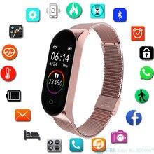 Mode acier inoxydable montre intelligente femmes hommes dames montre-bracelet pour android Ios horloge intelligente Fitness Tracker Sport Smartwatch