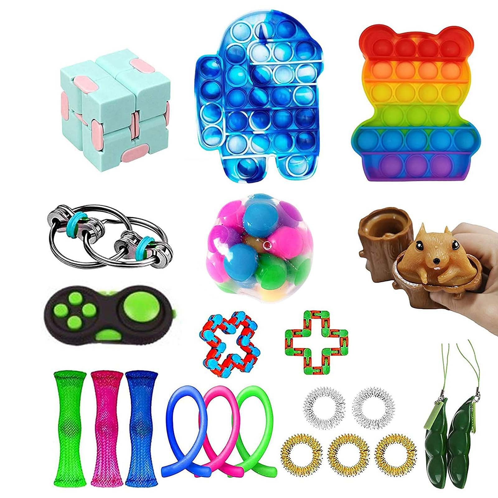 29/30/31 Pack Fidget Sensory Toy Set Stress Relief Toys Autism Anxiety Relief Stress Fidget Sensory Toy For Kids Adults Gifts