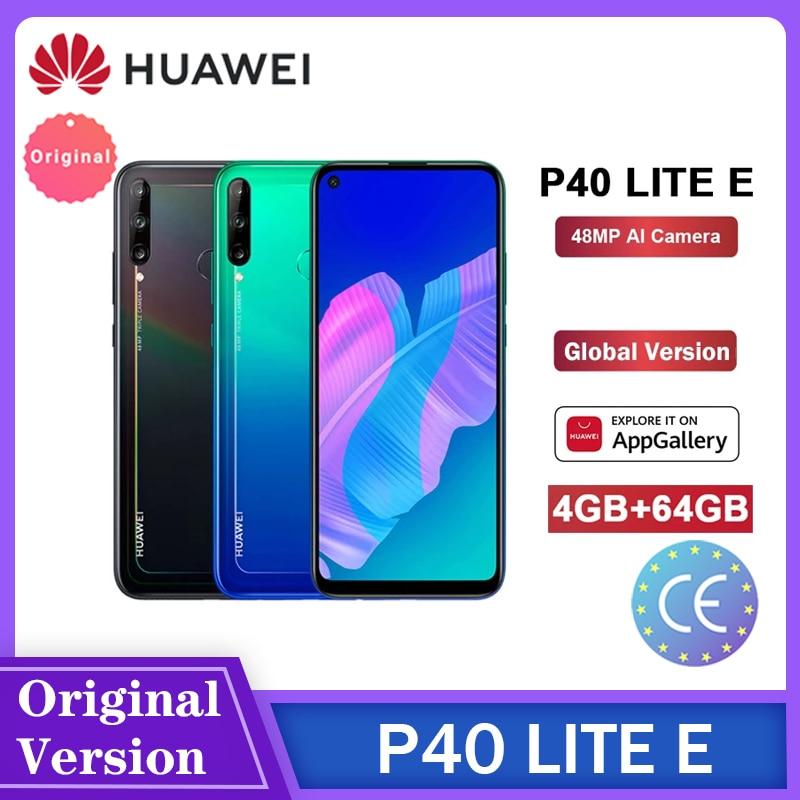 Global Versie Huawei P40 Lite E 4Gb 64Gb Smartphone 48MP Ai Camera 6.39 Fhd Scherm Kirin 710 Octa core 4000Mah الهاتف الخلوي