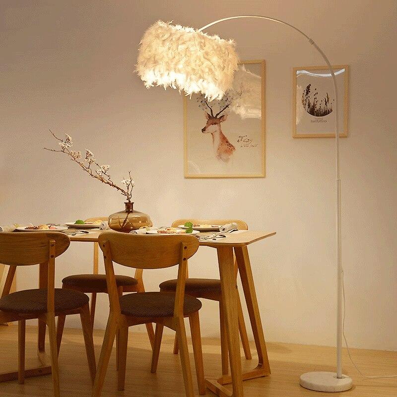 Angeln boden lampe wohnzimmer schlafzimmer mädchen zimmer klavier studio feder form boden licht