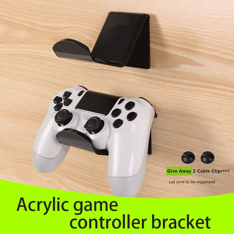 2020 HOT Game Controllers Bracket Acrylic Headset Hanger Wall Mount Bracket Self-Adhesive Hook for D