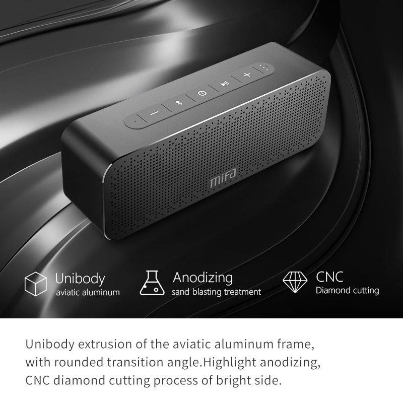 MIFA A20 Altavoz Bluetooth Metal porttil Super Bass altavoz inalmbrico Bluetooth4.2 3D sonido Digital altavoz Handfree MIC TWS enlarge