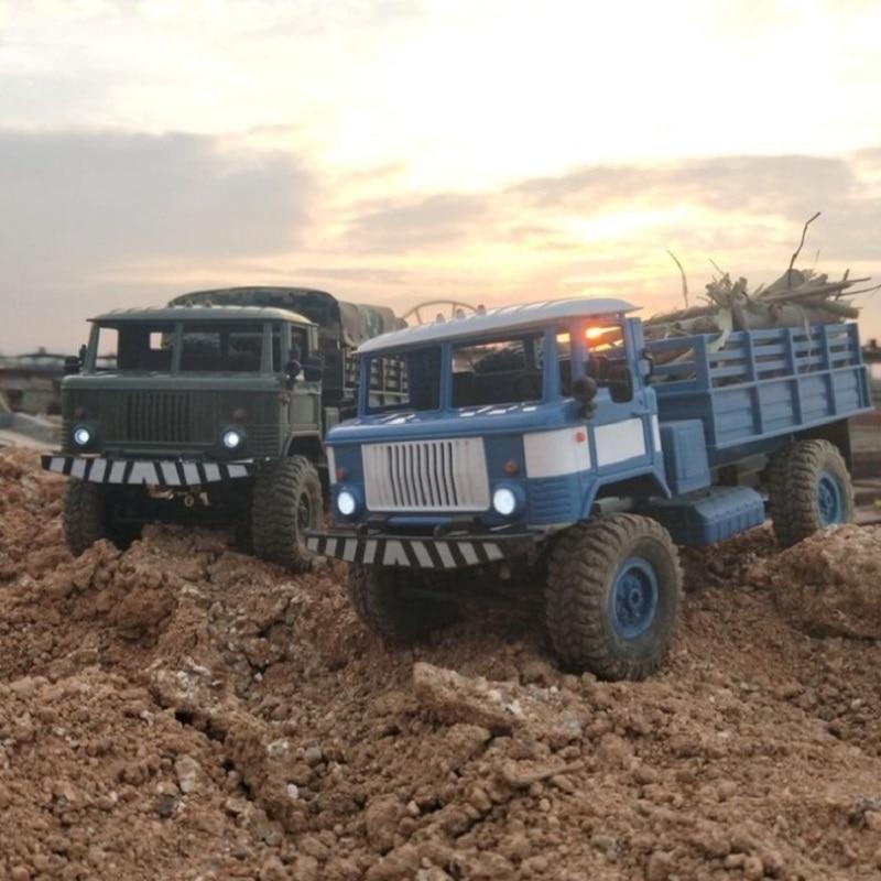 WPL B-24 GAZ-66 1/16 Remote Control Military Truck 4 Wheel Drive Off-Road B24 WPL GAZ RC Car Model Remote Control Climbing Car enlarge