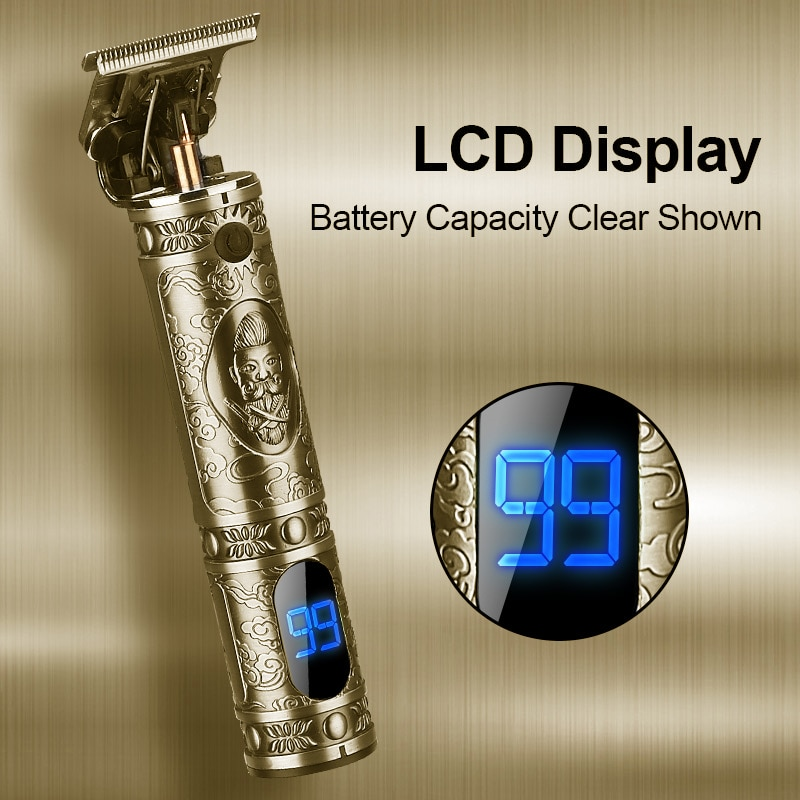 RESUXI 10W الشعر مجز المعادن T8 الشعر المتقلب LED عرض قص الشعر آلة USB شحن اللحية المتقلب حلاقة تصفيف العناية