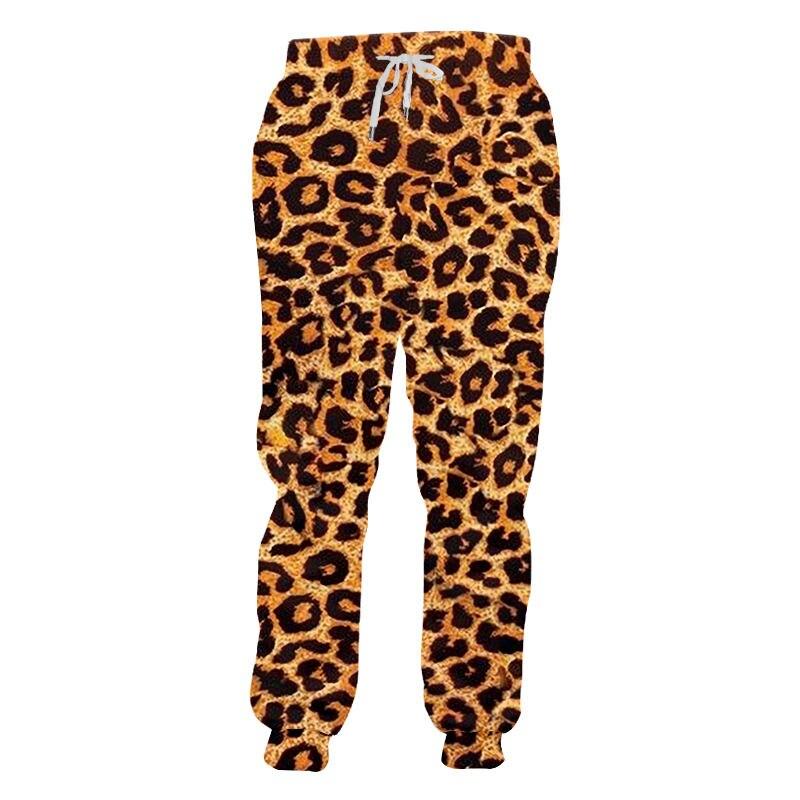 Impressão de leopardo 3d do vintage calças de jogger das mulheres dos homens unisex streetwear hip hop solto moletom oversize calças esportivas ao ar livre