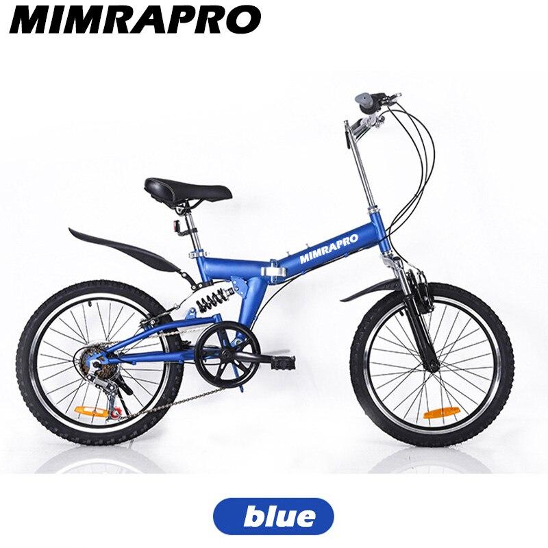 """¡Producto en oferta! Bicicleta MIMRAPRO, suspensión completa, cuadro plegable, cola suave, puede cambiar la velocidad, freno mecánico 20 """"x2.0, rueda de aleación de aluminio con 5 estilos"""