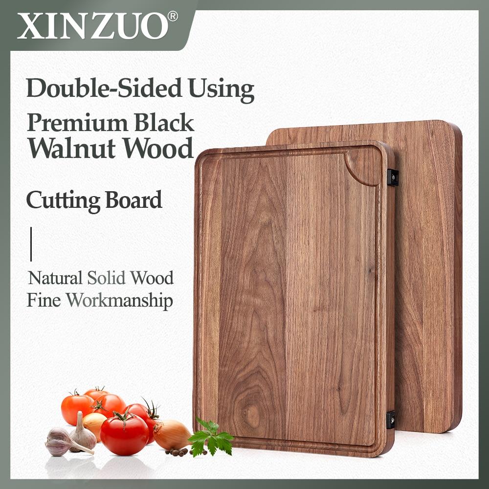 Новый XINZUO Разделочные Блоки черный орех Двусторонняя доска для Разделки мяса овощей прочные кухонные инструменты аксессуары